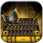 Glitter Butterfly Keyboard Theme