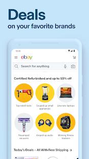 eBay: achetez, vendez et économisez directement depuis votre téléphone