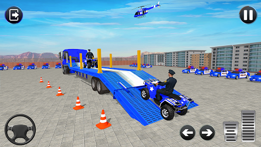 Grand Police Cargo Transport Truck:Car Parking Sim 1.0.2 screenshots 2