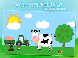 Moo & animals - kids game for toddlers from 1 year