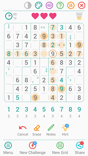 Free Sudoku Game screenshots 3