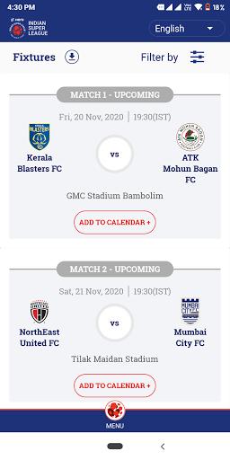 Indian Super League - Official App 8.8 Screenshots 2