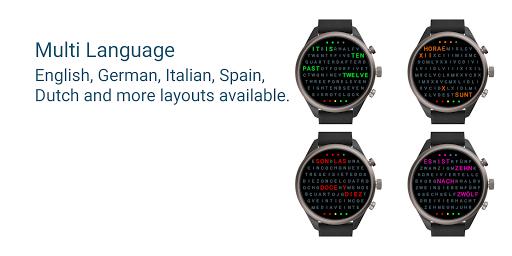 Word Clock Watch Face screenshot 3