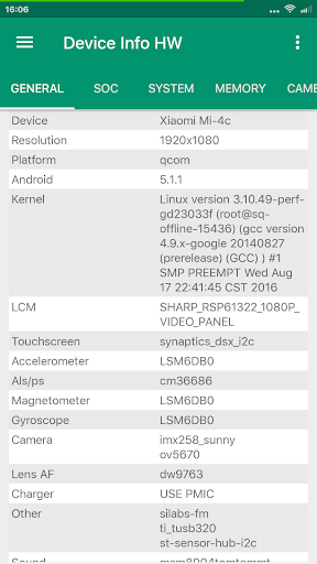Device Info HW screenshots 1