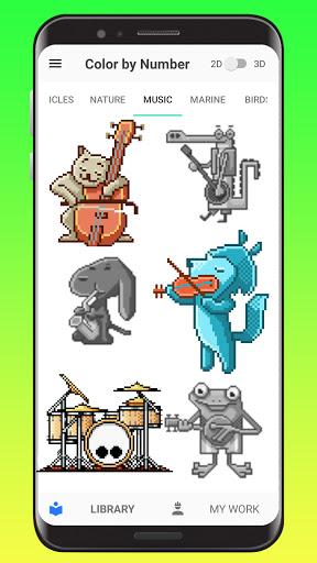 Color By Number - Unicorns Pixel Art apkdebit screenshots 2