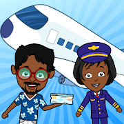 My Tizi Airport: Airplane Games for Kids Free