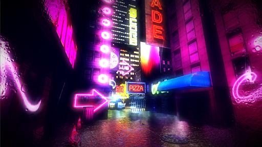 cyber retro punk 2069 | 3d cyberpunk fps screenshot 1
