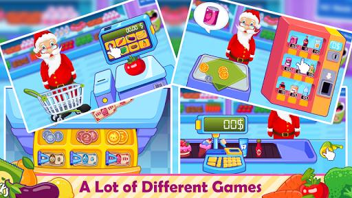santa go shop - supermarket games screenshot 1