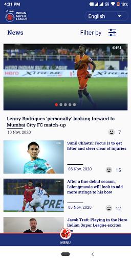 Indian Super League - Official App 8.8 Screenshots 4