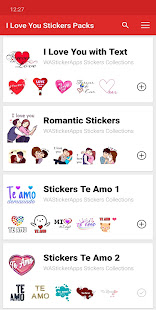 I love You Stickers and romantic WAStickerApps