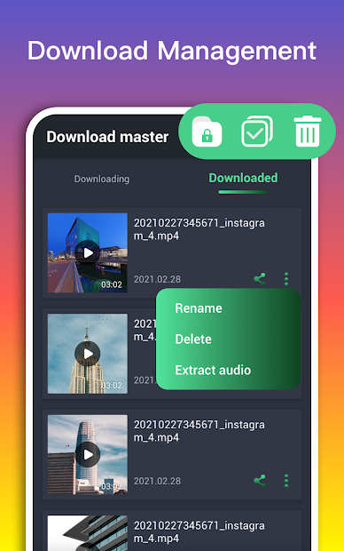 Screenshot 4 de Video Downloader Master para redes sociales para android