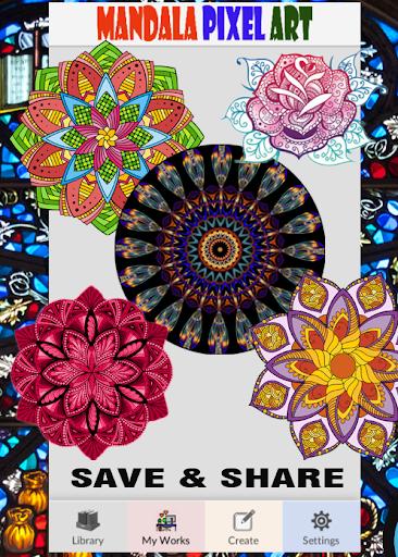 Mandala Pixel Art Coloring By Number  screenshots 4