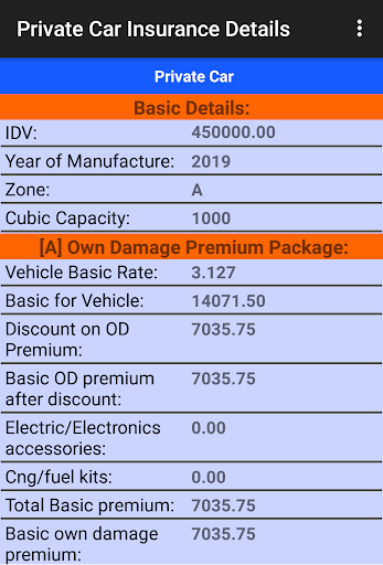 Motor Insurance Calculator Free 8.0.3 screenshots 5