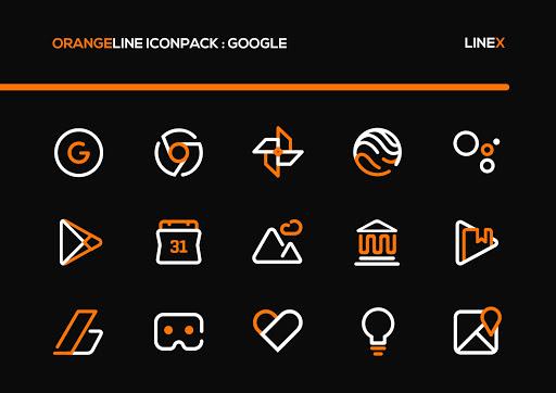 Download APK: OrangeLine IconPack : LineX v3.1 [Patched]