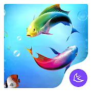 Cartoon  Lovely Fishes-APUS Launcher theme