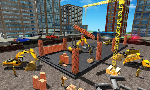 Supermarket Construction Games:Crane operator apktreat screenshots 2