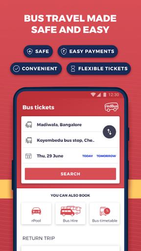 redBus - Largest Online Bus Ticket Booking App apktram screenshots 1