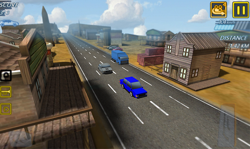 blocky highway roads racer 3d screenshot 1