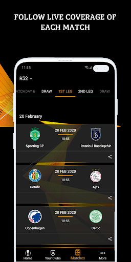 UEFA Europa League football: live scores & news apkdebit screenshots 3