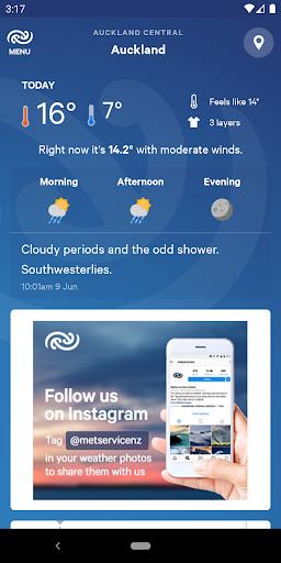 MetService NZ Weather screenshots 1
