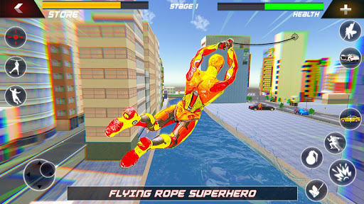 Flying Robot Rope Hero - Vegas Crime City Gangster 3.5 screenshots 4