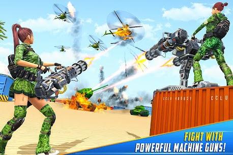 Real Commando Shooting Strike Mod Apk (God Mode/Dumb Enemy) 2