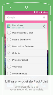 PackPoint: lista de equipaje Screenshot