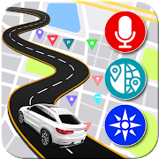 Voice Map Navigation: GPS Directions & Compass  Icon