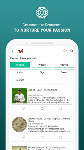 MeVero - Find & Follow Your Passion. modavailable screenshots 2