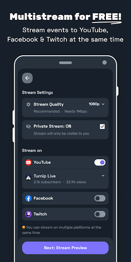 Turnip: Livestream, voice chat, gaming communities android2mod screenshots 1