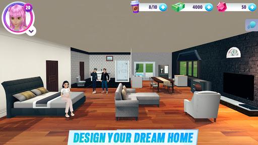 Virtual Sim Story: 3D Dream Home & Life screenshots 2