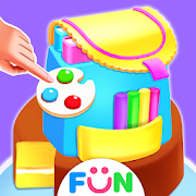 School Backpack Cake Maker-Lunch Hour Girly Game