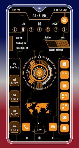 Compact Hitech Launcher - sci-fi, win style Themes 4.0 Screenshots 12