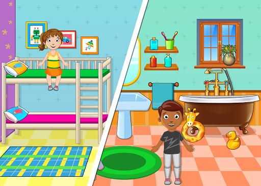 Kids Mini Home Family Life - My Toys House Town Apkfinish screenshots 7