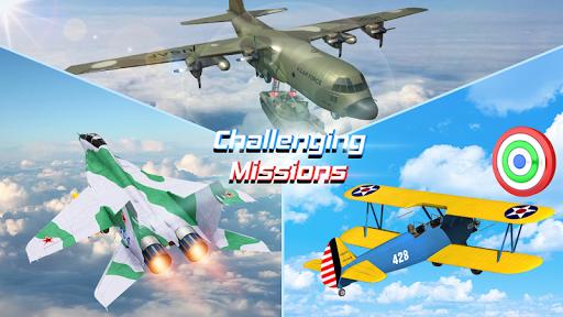 Flight Plane Simulator 3D : Airplane Flying Sim apktram screenshots 1