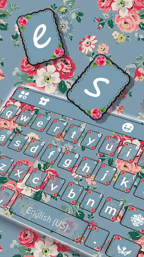 Flowers Vintage Keyboard Theme  screenshots 2