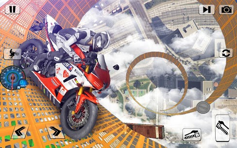 Bisiklet İmkansız Raylar Yarış: Motosiklet Stunts Full Apk İndir 3