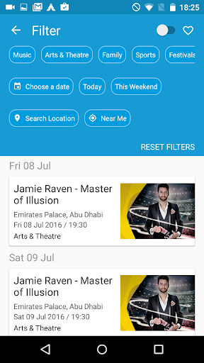 Ticketmaster Middle East screenshots 2