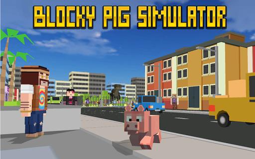 blocky city pig simulator 3d screenshot 1