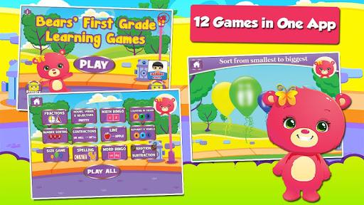 Baby Bear First Grade Games screenshots 1