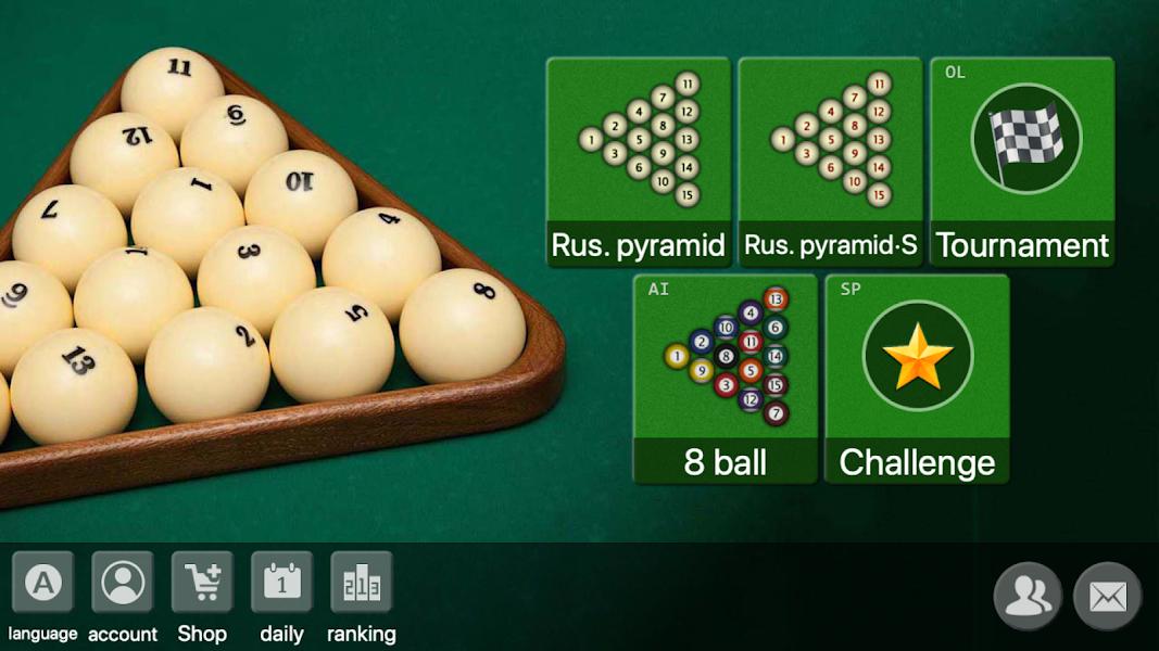 Russian Billiards offline online 8 ball game