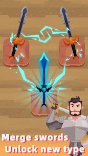 Merge Sword — Idle Blacksmith Master Mod Apk (Unlimited Gold) 1.3.5 1