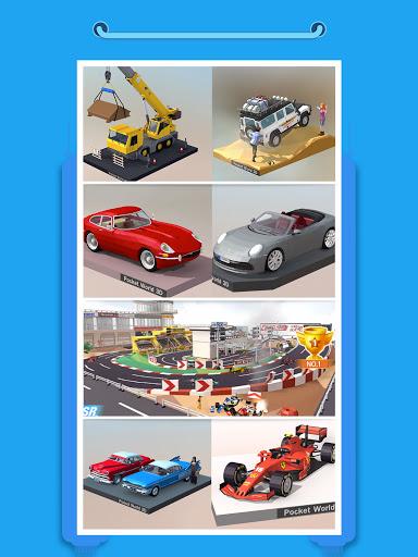 Pocket World 3D - Assemble models unique puzzle 1.8.9 Screenshots 9