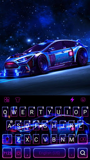 Racing Sports Car Keyboard Theme 1.0 Screenshots 5
