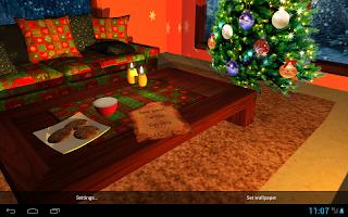 3D Christmas Fireplace HD Live Wallpaper