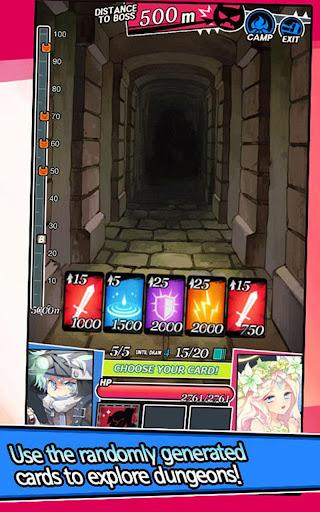 Dungeon & Girls: Card Battle RPG | Build your Deck Apkfinish screenshots 10