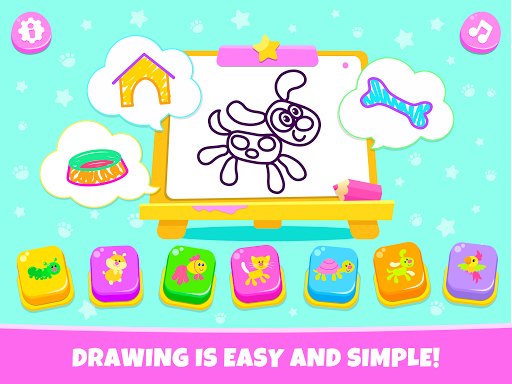 Pets Drawing for Kids and Toddlers games Preschool apkpoly screenshots 17