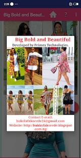 Big Bold & Beautiful Dress Styles