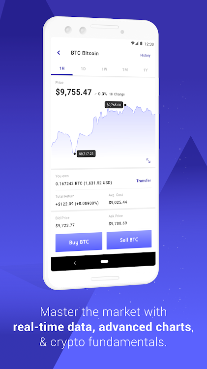 voyager crypto android