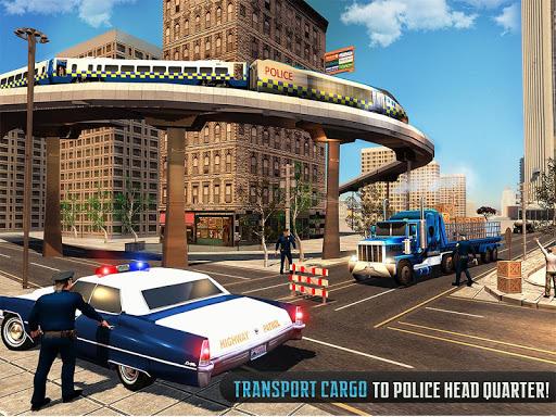 Police Train Shooter Gunship Attack : Train Games  Screenshots 7